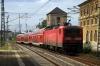 DB 143087 departs Chemnitz with RE4784 0853 Dresden Hbf - Hof Hbf