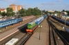 BCh ChME3T-7092 arrives into Mogilev 1 with a breakdwon crane while TGM4A-2734 heads out of town and 2M62U-0258B waits to depart with 776B 1906 Mogilev 1 - Kommunary; a train usually worked by a 2-car A/C Pesa DMU