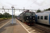 SJ T&T Rc6's 1362 & 1369 arrive into Marsta with 846 1641 Stockholm Central - Uppsala