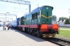 BCh ChME3-4168 at Zlobin having shunted the through Minsk - Chisinau coaches from 100B Minsk - Novooleksiyivka to 061B St Petersburg - Chisinau