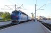 UZ ChS4-196 waits to depart from Koziatyn 1 with 061B 2040 (P) St Petersburg - Chisinau having just replaced UZ 2M62-1247B