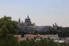 Spain, Madrid - Madrid Royal Palace as seen from Temple of Debod
