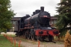 Steam Loco 01-043 (tender 26-042) outside Fushë Kosovë station plinthed