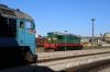 CFM M62-1257 waits to depart Chisinau with 6820 1900 Chisinau - Basarabeasca while ChME3E-6779 prepares to shunt the stock out ex 047 1047 (P) Moskva Kievski - Chisinau
