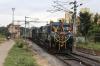 KJM WDG4s 12030/12276 arrive into Bangalore City with 16215 0645 Mysore Jn - Bangalore City Chamundi Express