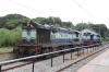KJM WDG3A 14796 & KJM WDM3D 11519 stabled at Bangalore Cantt in the back platform