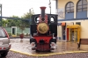 Steam loco outside the station at Peru Rail's Cusco Wanchaq station