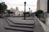 Arequipa, Peru - Santa Marta Church; seen over the steps of Arequipa Court