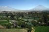 Arequipa, Peru - Views of Chachani Mountain & El Misti Volcano from Carmen Alto Viewpoint