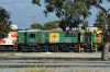 GWA Goodwin Alco DL531, 830 Class, 843 on shed at Dry Creek Motive Power Depot, Adelaide