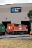 GWA Clyde EMD A16C GM Class, GM46 & EDI/EMD GT46C FQ Class, FQ03 on shed at Dry Creek Motive Power Depot, Adelaide