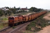 GWA MKA G14M, 1300 Class, 1301 & Clyde GM G18B, CK Class, CK4 approach Whyalla with a loaded train from Iron Baron