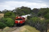 Ex Tasrail X Class, EE 6SRKT, X20/X3 perform a photo run-by between Drysdale & Lakers Siding with our return Private Charter on the Bellarine Railway, Victoria