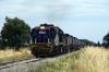 PN Goodwin/Alco DL531 48 Classes, 48163 & 48162 sandwich Clyde/EMD G26C X Class, X51 running between Yarrabandai & Gunningbland with 8834 1330 Condobolin - Manildra