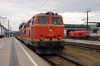 Novog 2143021 waits departure from Krems with 16950 1000 Krems - Emmersdorf (Wachaubahn) while OBB 2016001 stands spare