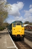 31101 waits at Bitton with the 1305 Oldland Common - Avon Riverside, dragging a DMU
