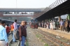 BR MEI15 2914 waits to depart Biman Bandar with a train for Dhaka Kamlapur