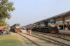 BR BEM20 6116 at Rajshahi with 565 1300 Rajshahi - Chapai Nawabganj and BR BEA20 6008 with 77 1520 Rajshahi - Rohanpur
