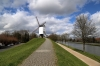 Bruges, Belgium - Windmill on the outskirts of the City