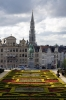Brussels - Looking over Mont des Arts towards Grand Place where the Hotel de Ville (City Hall) dominates the skyline