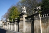Brussels - Stone statues line the walls of the Palais Royal on Rue Brederode