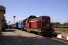 BDZ Sulzer 55116 at Svishtov after arrival with 24204 1122 Levski - Svishtov