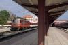 BDZ 44132 waits at Varna with 8632 1550 Varna - Plovdiv while BDZ 07106 waits with 28104 1600 Varna - Kardam