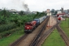 CamRail GM GT26CU-3 CC3301 arrives into Yaounde, from the Douala direction, with a container train