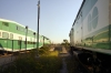 Oakville GO Transit MPI MP40H-3C's (L) 637 with 494 0702 Hamilton - Toronto Union, (R) 622 with 454 0750 Oakville - Toronto Union