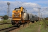 CFR Sulzer 60-0539 departs Suceava with R56564 0843 Botosani - Suceava Nord; with Caterpillar 82-0615 idling on the rear (as booked)