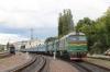 UZ 2M62U-0077b/a wait to depart Chernivtsi with 118L 1946 Chernivtsi - Kyiv Pas.