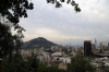 Santiago, Chile - view of Cerro San Cristobal from Cerro Santa Lucia