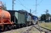 Temuco, Chile - FEPASA GM SD39-2's 2355/2360 depart the yard adjacent to the station with a southbound train