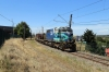 Temuco, Chile - FEPASA GM SDL39 2348 heads south with a freight as it crosses Claro Solar foot-crossing south of town