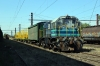 Temuco, Chile - FEPASA GE U5B 5110 stabled in the yard adjacent to the station with a freight