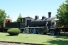 Temuco, Chile - Pablo Neruda Railway Museum, #532 - 2-6-0 North British Scotland, 1908 - is outside in the main gardens, hidden amongst trees