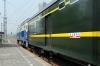 CR DF4D-4142 at Tongzhou Xi waiting to depart with 2258 1302 (P) Dandong - Beijing