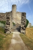 Conisbrough Castle - entrance via the Barbican passage