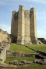 Conisbrough Castle - looking through the Great Hall towards the kitchen at the base of the Keep