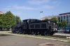 HZ steam loco 125052 plinthed at Zagreb Glavni Kolodvor