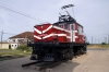 Hershey Railway's GE built 7230B electric 21203 is now plinthed at Hershey station