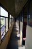 Inside the corridor of the leading ex German coach on train 117 1640 Matanzas - Los Arabos