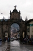 Cusco, Peru - Santa Clara Church; visible through the archway near Merced Church