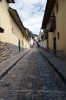 Cusco, Peru - Narrow streets leading up to Sacsaywaman