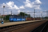 CD Cargo 363571 runs through Praha Liben with a freight