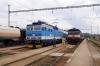 CD 362161 arrives at Svetla nad Sazavo with 5910 1316 Havlickuv Brod - Kolin while CD 749121 waits to depart with 9206 1346 Svetla nad Sazavou - Praha HN