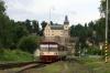 CD DMU 810587 arrives into Zruc nad Sazavou with 9211 1308 Cercany - Svetla nad Sazavou