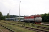 CD 749006 waits in the sidings at Zruc nad Sazavou with the stock to form Sp1832 1600 Zruc nad Sazavou - Praha HN