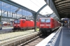 DB's 143107 & 143242 at Darmstadt Hbf with services on the Wiesbaden - Aschaffenberg circuit