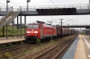 DB EG3108 runs through Hoje Taastrup with a freight
